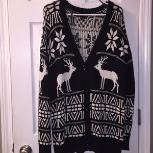 Reindeer holiday cardigan